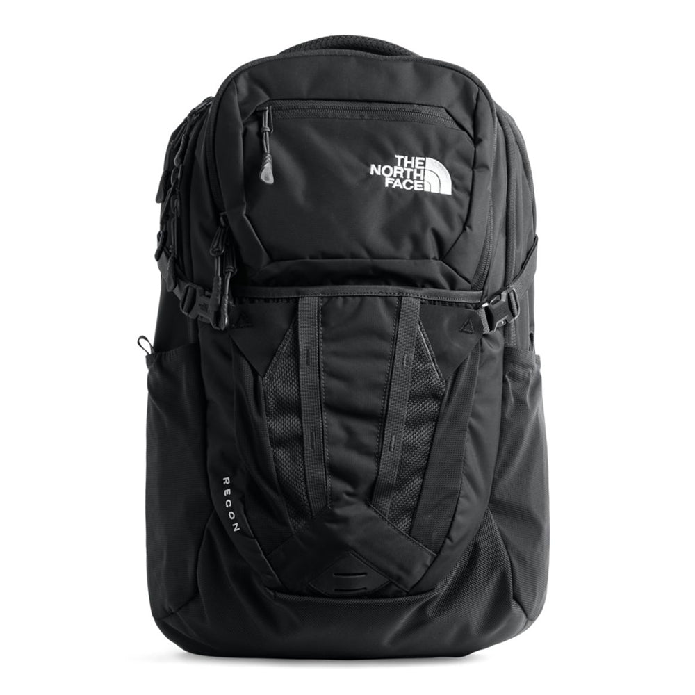 Unisex The North Face Recon Backpack in TNF Black from the front view
