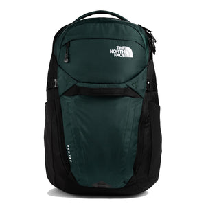 The North Face Router Backpack in Scarab Green/TNF Black from the front