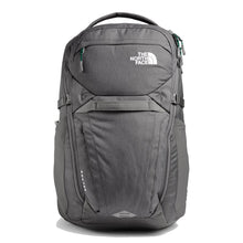 Load image into Gallery viewer, The North Face Router Backpack in Zinc Grey Dark Heather/Evergreen from the front