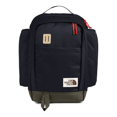 The North Face Ruthsac Backpack in Aviator Navy Light Heather/New Taupe Green from the front