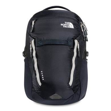 The North Face Surge Backpack in Aviator Navy/Meld Grey from the front