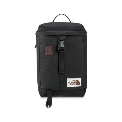 The North Face Top Loader Backpack in TNF Black Heather from the front