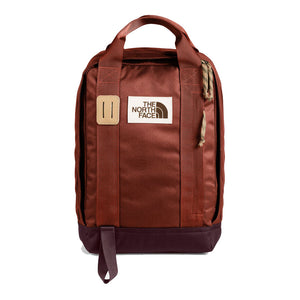 The North Face Tote Pack Backpack in Brandy Brown/Root Brown from the front
