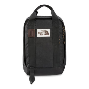 The North Face Tote Pack Backpack in TNF Black Heather from the front