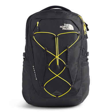 The North Face W BOREALIS Backpack in Asphalt Grey/TNF Lemon from the front