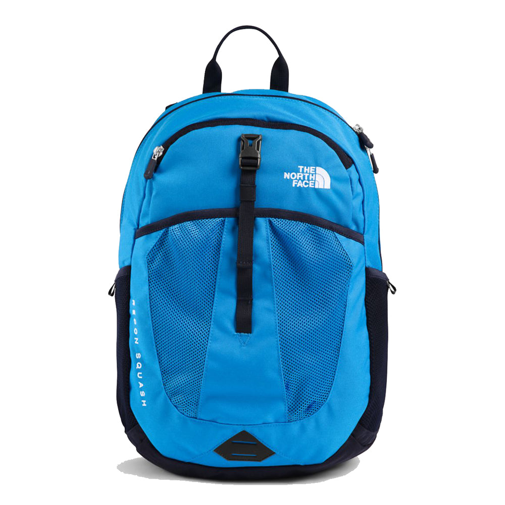 The North Face Youth Recon Squash Backpack in Clear Lake Blue/Aviator Navy from the front