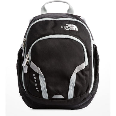 The North Face Youth Sprout Backpack in TNF Black/High Rise Grey from the front