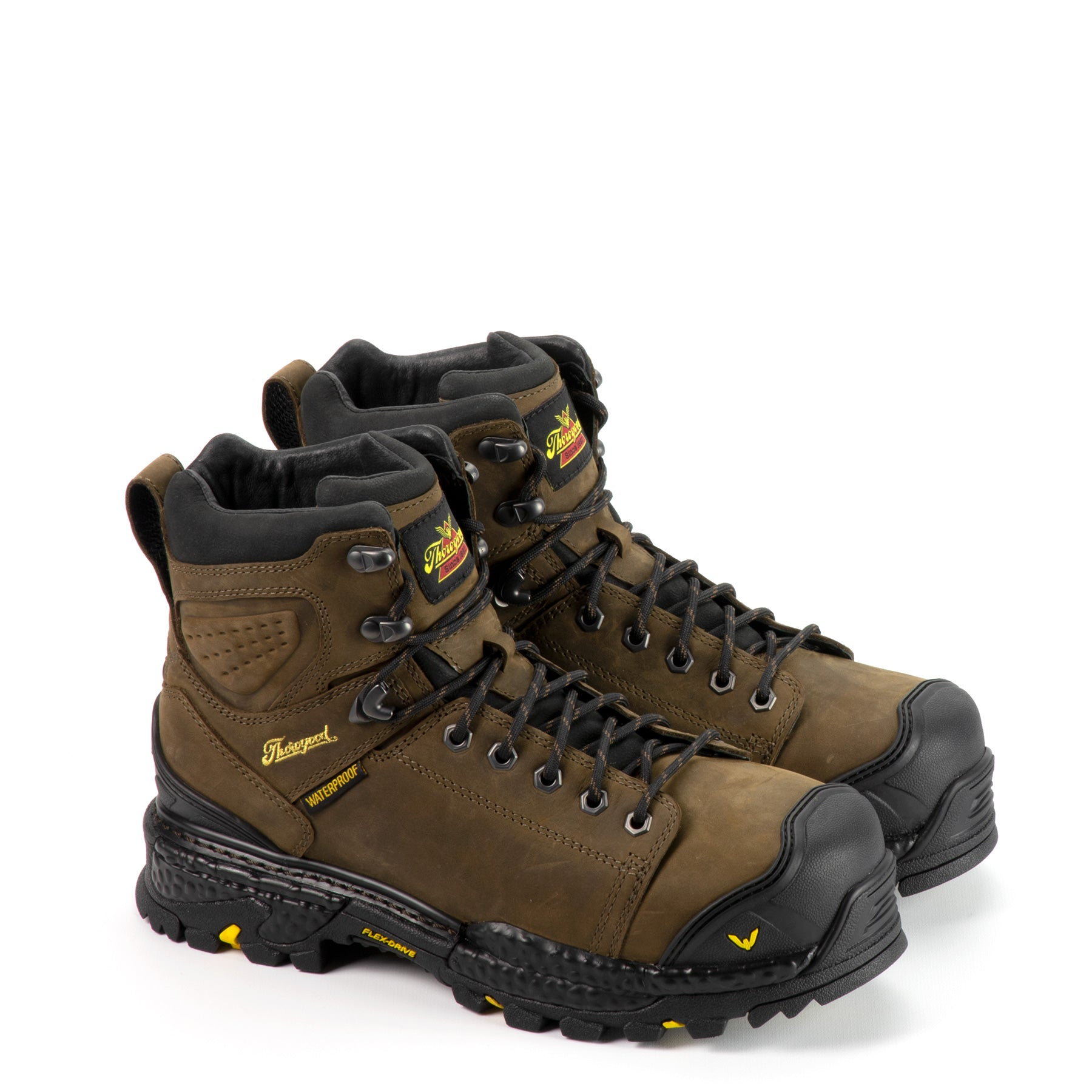 "Thorogood Men's Infinity FD Series 6"" Waterproof Composite Work Boot in Studhorse from the side"