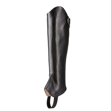 Unisex Ariat Kendron Half Chap in Black from the front
