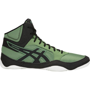 Unisex Asics Snapdown 2 Wrestling Shoe in Cedar Green/Black
