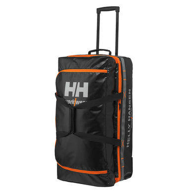 Helly Hansen Unisex 95-Liter Trolley Bag in Black from the front