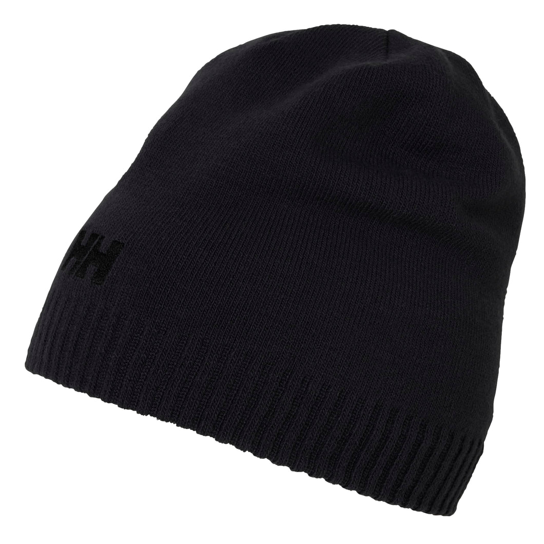 Helly Hansen Unisex Brand Beanie in Black from the side