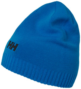 Helly Hansen Unisex Brand Beanie in Electric Blue from the side