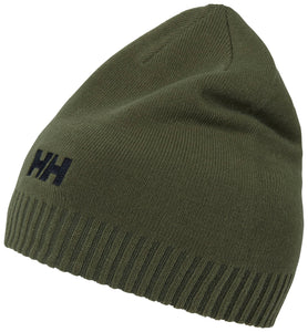 Helly Hansen Unisex Brand Beanie in Lav Green from the side