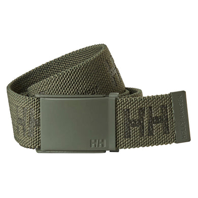 Helly Hansen Unisex HH Logo Webbing Belt in Army Green from the front
