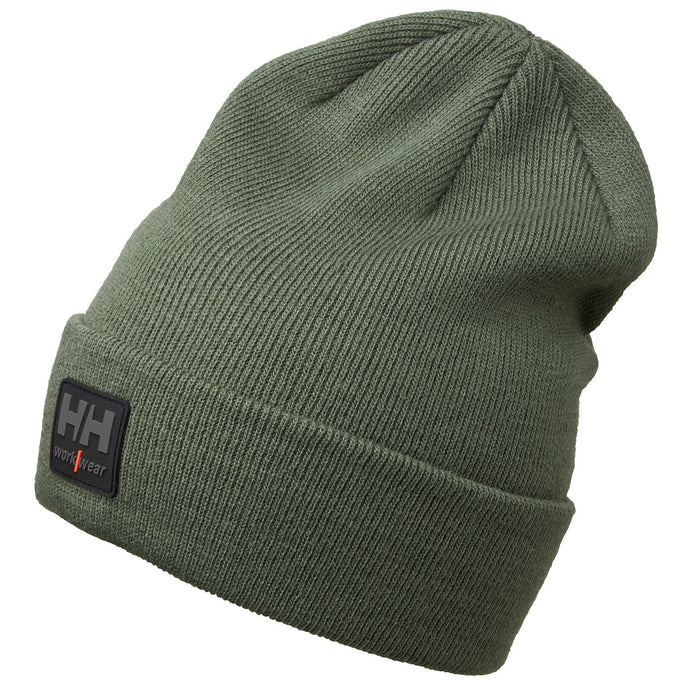 Helly Hansen Unisex Kensington Beanie in Army Green from the front