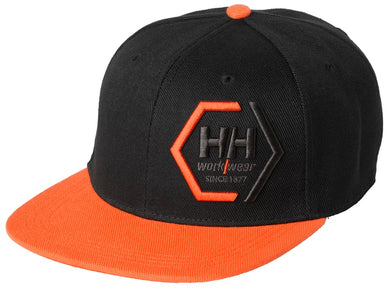 Helly Hansen Unisex Kensington Flat Brim Cap in Black from the front