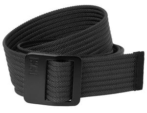 Helly Hansen Unisex Webbing Belt in Charcoal from the front