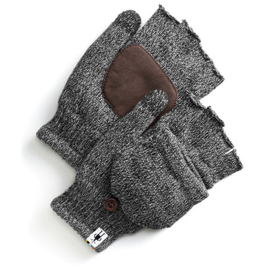 Unisex Smartwool Cozy Grip Flip Mitt in Black