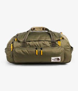 Unisex The North Face Berkeley Duffel Medium in Burnt Olive Green/New Taupe Green from front view