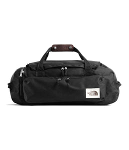 Unisex The North Face Berkeley Duffel Medium in TNF Black Heather from front view
