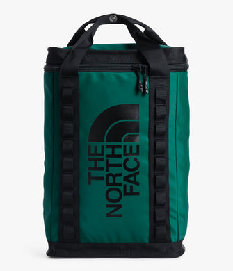 Unisex The North Face Explore Fusebox Daypack Large in Evergreen/TNF Black from front view