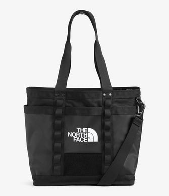 Unisex The North Face Explore Utility Tote in TNF Black/TNF Black from front view