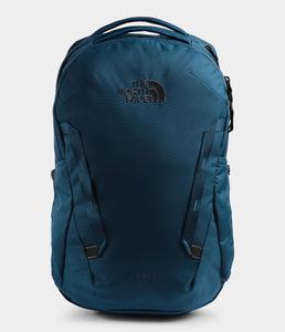 Unisex The North Face Vault Backpack in Blue Wing Teal from front view