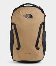 Load image into Gallery viewer, Unisex The North Face Vault Backpack in Moab Khaki/Asphalt Grey from front view
