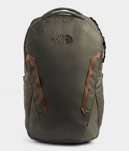 Unisex The North Face Vault Backpack in New Taupe Green/Utility Brown from front view
