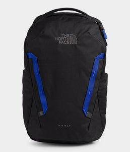 Unisex The North Face Vault Backpack in TNF Black Heather/TNF Blue from front view