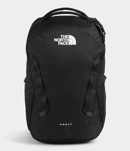 Unisex The North Face Vault Backpack in TNF Black from front view