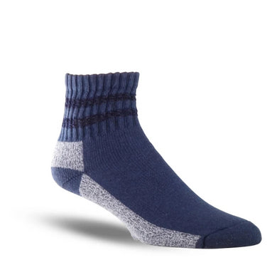 Thorogood Men's 3-Pack Mini Crew Uniform Sock in Navy from the side