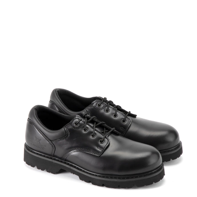 Thorogood 804-6449 Unisex Academy Oxford Steel Safety Toe Shoe in Black from the side
