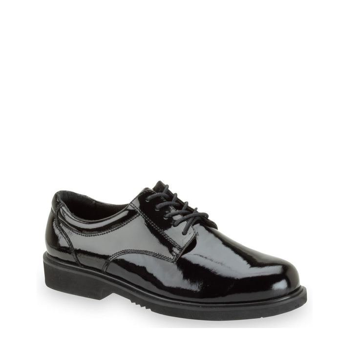 Thorogood 831-6031 Unisex Poromeric Oxford Shoe in Black from the side