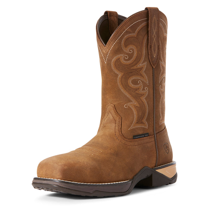 Women's Ariat Anthem Composite Toe Work Boot in Chipmunk Brown from the front