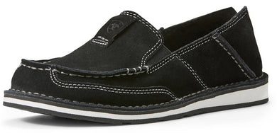 Women's Ariat Cruiser Slip-on Shoe in Black Suede
