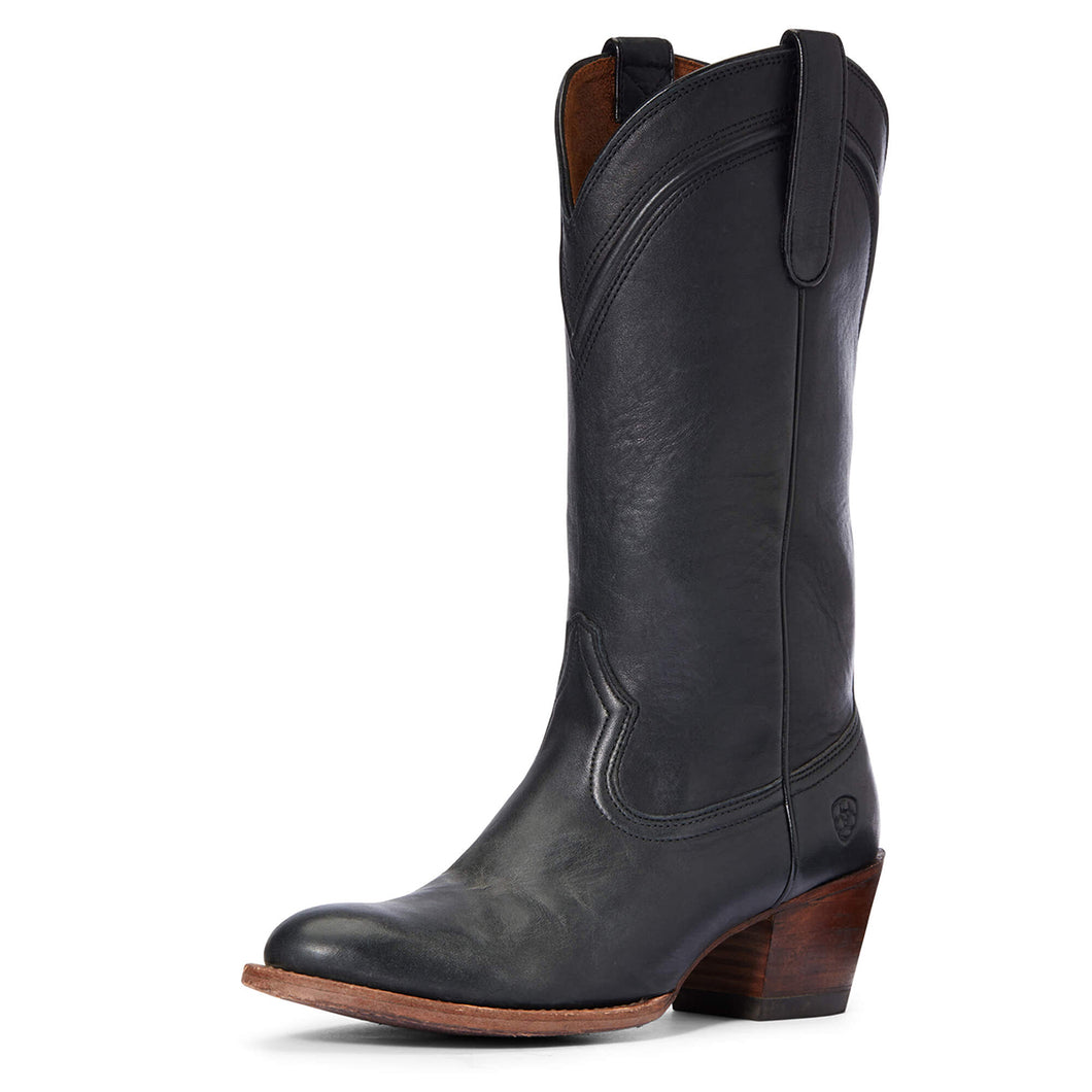 Women's Ariat Desert Paisley Western Boot in Black from the front