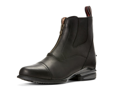Women's Ariat Devon Nitro Paddock Boot in Black from the front