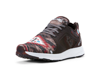 Women's Ariat Fuse Athletic Shoe in Brown Aztec