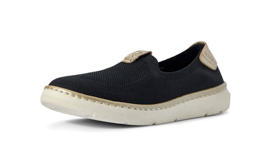 Women's Ariat Knit Ryder Slip-on Shoe in Black from the front