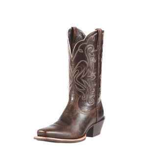 Women's Ariat Legend Western Boot in Chocolate Chip/Teak from the front