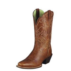 Women's Ariat Legend Western Boot in Russet Rebel from the front