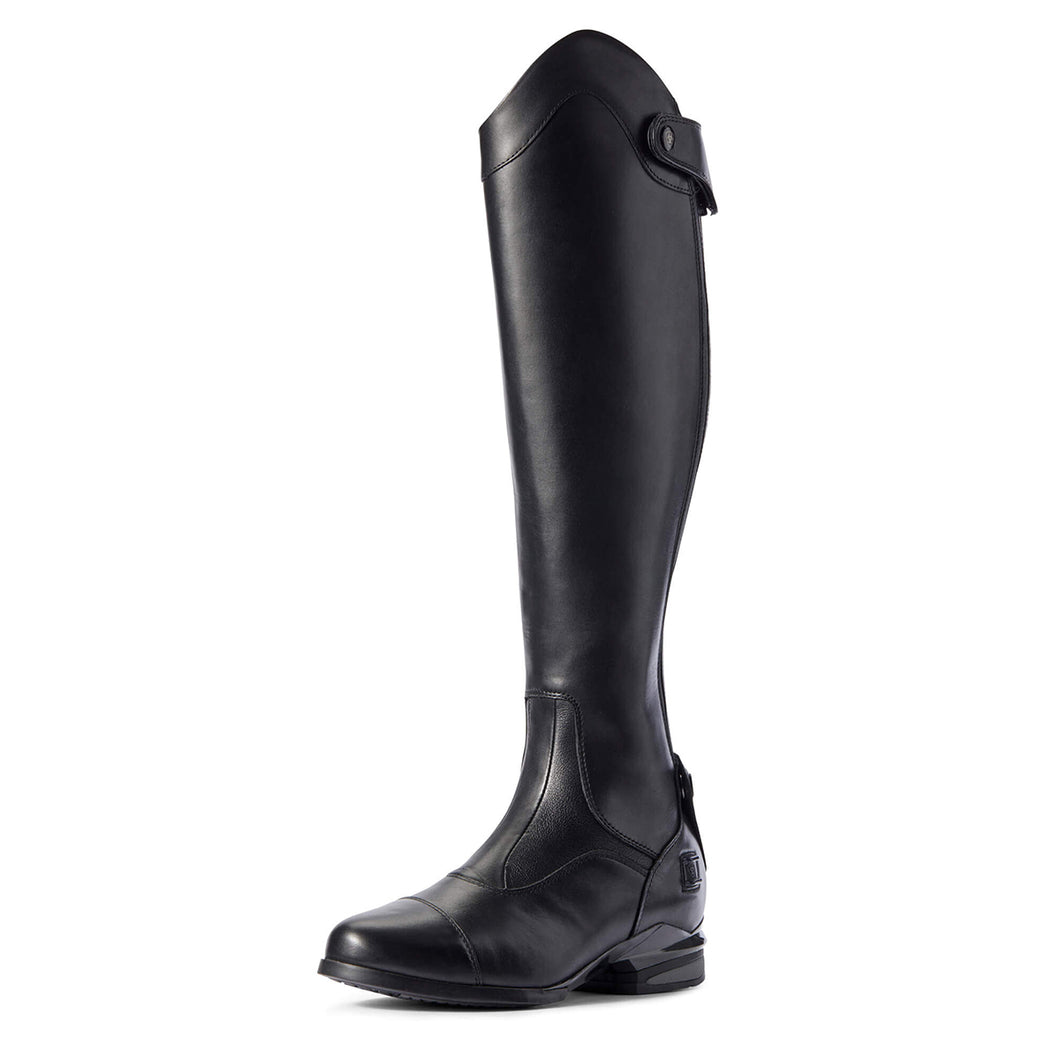 Women's Ariat Nitro Max Tall Riding Boot in Black from the front