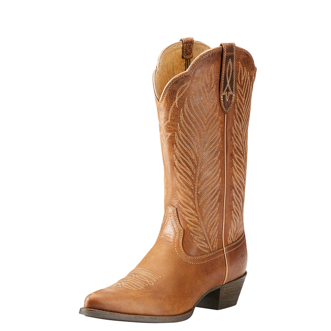 Women's Ariat Round Up Johanna Western Boot in Pearl from the front