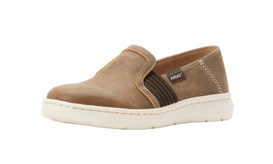 Women's Ariat Ryder Slip-on Shoe in Brown Bomber from the front
