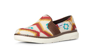 Women's Ariat Ryder Slip-on Shoe in Turquoise Saddle Blanket from the front