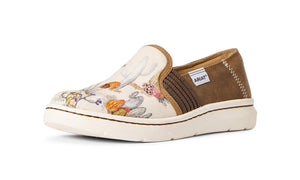Women's Ariat Ryder Slip-on Shoe in Watercolor Cactus from the front