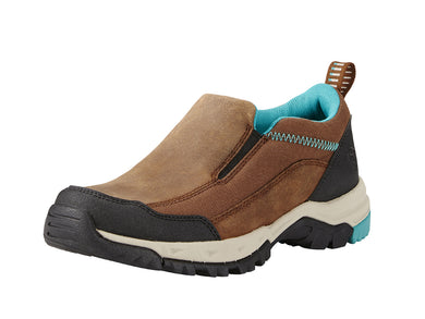 Women's Ariat Skyline Slip-On Hiking Shoe in Taupe from the front