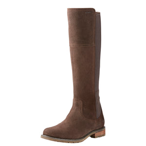 Women's Ariat Sutton Waterproof Country Boot in Chocolate from the front